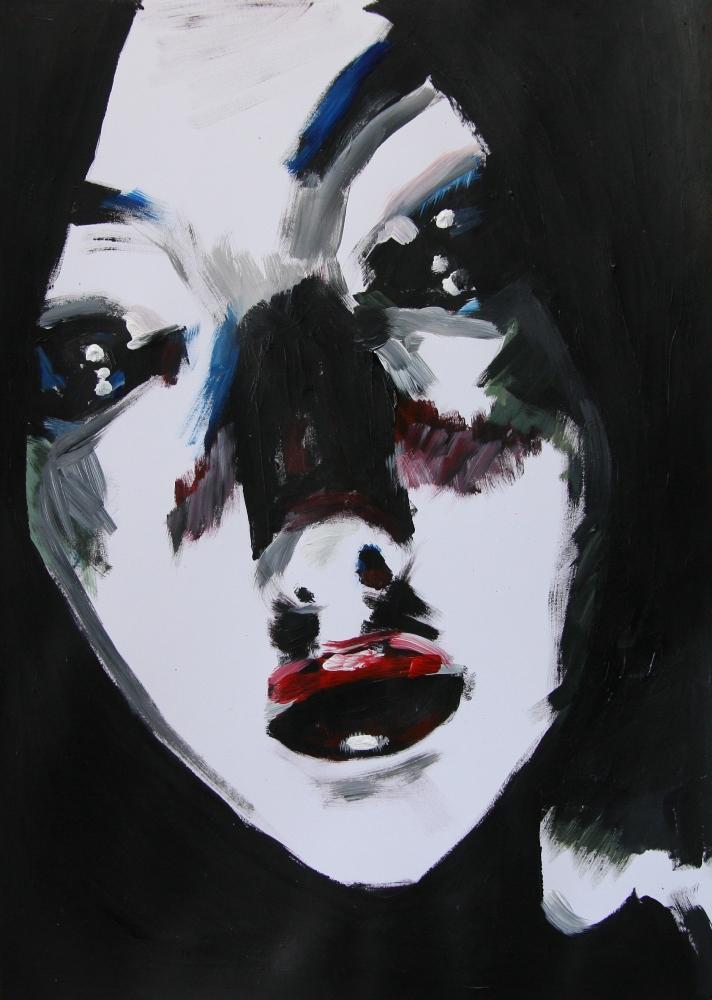 """""""Lydia Roberts"""", akryl på papper, A3, 2011."""