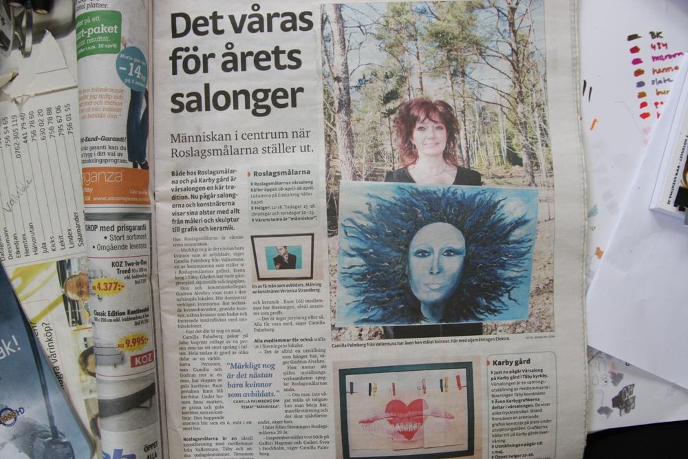 Artikel om roslagsmålarnas vårsalong 2011