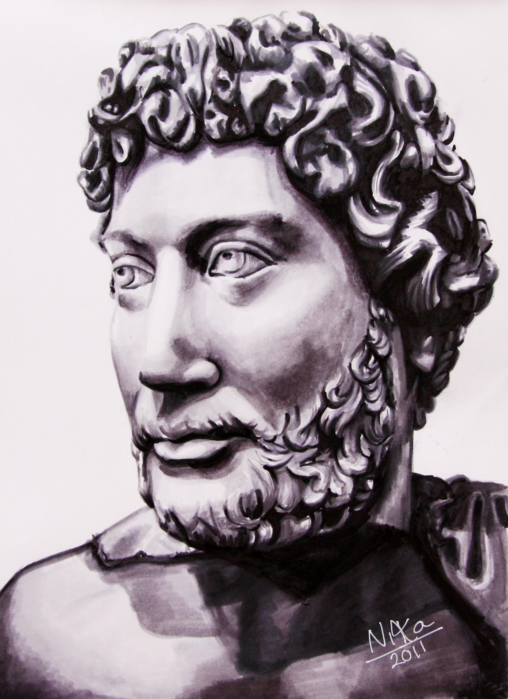 Hadrian till en online visning (se länk nedan). Tria marker på A4, 2011