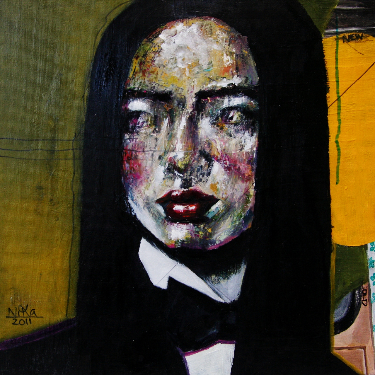 Subcutaneous 2. Oil on canvas, 30x30 cm, 2011.