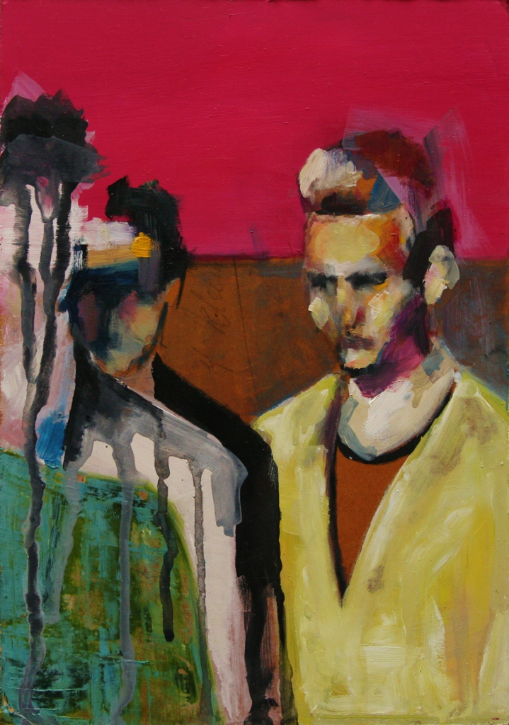 Fashio Victims 2, oil on board, 2011.
