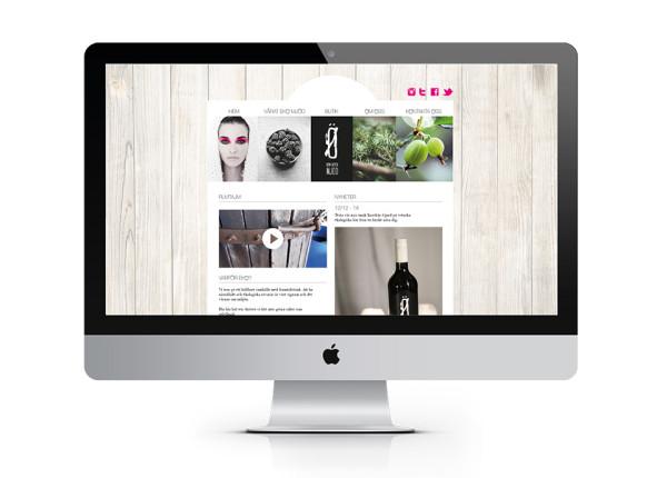 Förslag på hemsida till den nya mjöddesignen